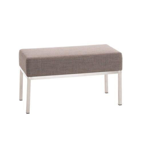 CLP Sitzbank »Lamega Stoff«, bequem gepolstert, grau