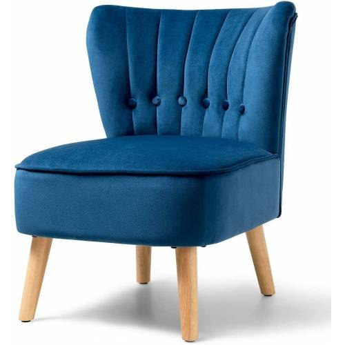 COSTWAY Loungesessel »Esszimmerstuhl Wohnzimmerstuhl«, blau