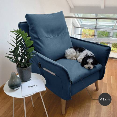 PLACE TO BE. Sesselschoner , Sesselschonbezug Complete für Relaxsessel Insideout Small, Blau