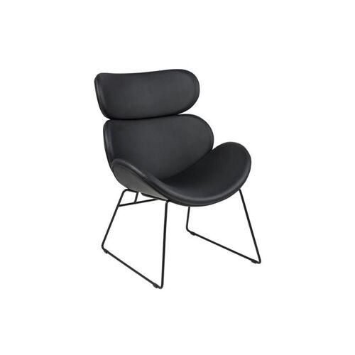 ebuy24 Relaxsessel »Cazy Sessel in schwarzen Kunstleder und schwarzen«