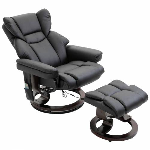 HOMCOM Massagesessel »Massagesessel mit Fußhocker«, schwarz