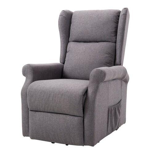 HOMCOM TV-Sessel »Fernsehsessel mit Aufstehhilfe«, grau