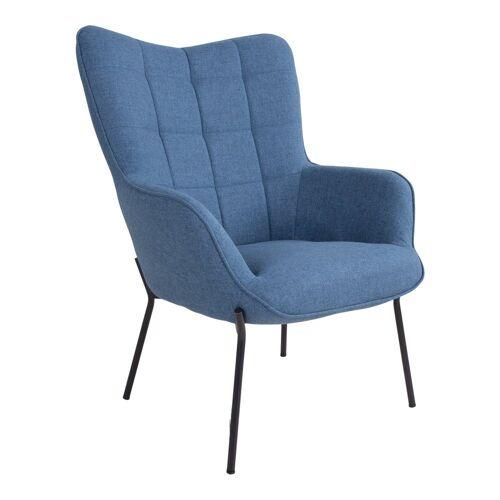 ebuy24 Relaxsessel »Glow Sessel blau, schwarze Beine.«
