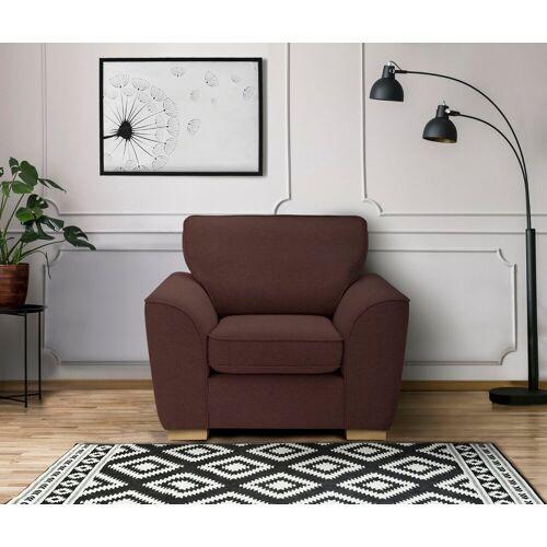 DELAVITA Sessel »Savoy«, gemütlicher Sessel,k in 2 Bezugsqualitäten, rot