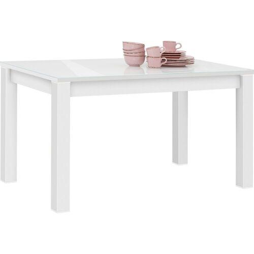 Maja Möbel Esstisch »SHINO«, weiß matt - Weißglas   weiß matt   Weißglas