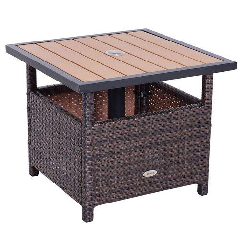Outsunny Gartentisch »Polyrattan Gartentisch«