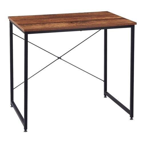 Woltu Schreibtisch, Schreibtisch im Desktop Design, schwarz-vintage