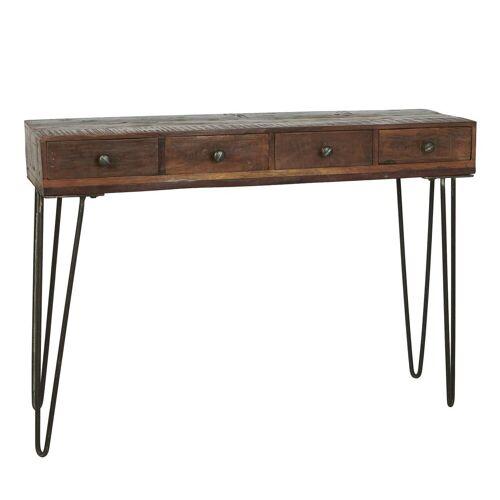 Ib Laursen Beistelltisch »Konsolentisch Tisch Beistelltisch Schreibtisch Unika Holz Alt 2107 00«