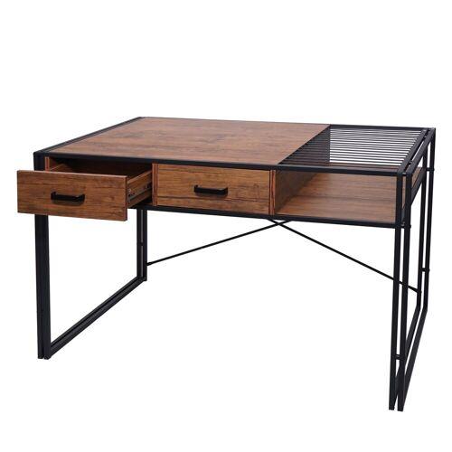 MCW Schreibtisch »-H91«, Industrie-Design, Ablage für Dokumente, braun