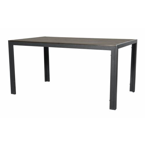 ebuy24 Gartentisch »Coup Gartentisch, 150 cm schwarz/braun.«