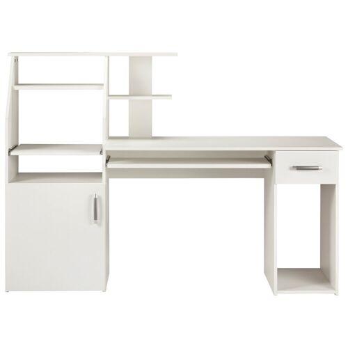 Schreibtisch »Don«, mit Tastaturauszug, weiß