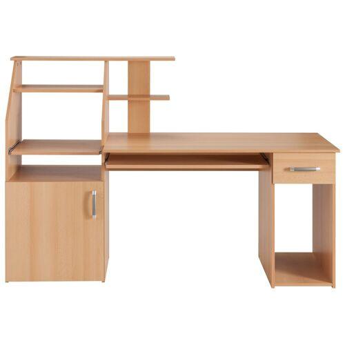 Schreibtisch »Don«, mit Tastaturauszug, buchefarben