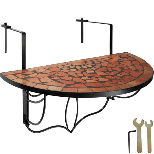 tectake Balkonhängetisch »Balkontisch Mosaik klappbar« (1-St), terracotta