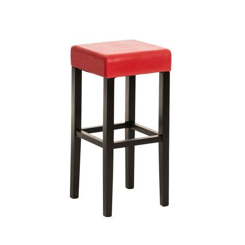 CLP Barhocker »Judy Kunstleder«, mit hochwertiger Polsterung, schwarz/rot