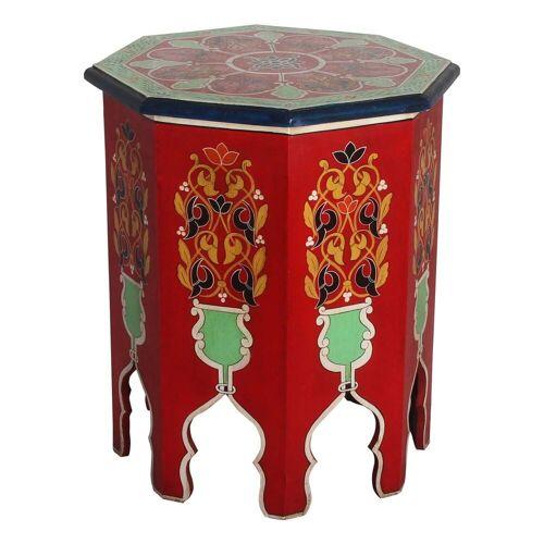Casa Moro Beistelltisch »Marokkanischer Beistelltisch Widad Höhe 51 cm x Ø 42 cm aus Holz handbemalt, Vintage Sofatisch Handmade Tisch, RK600«, Kunsthandwerk aus Marokko