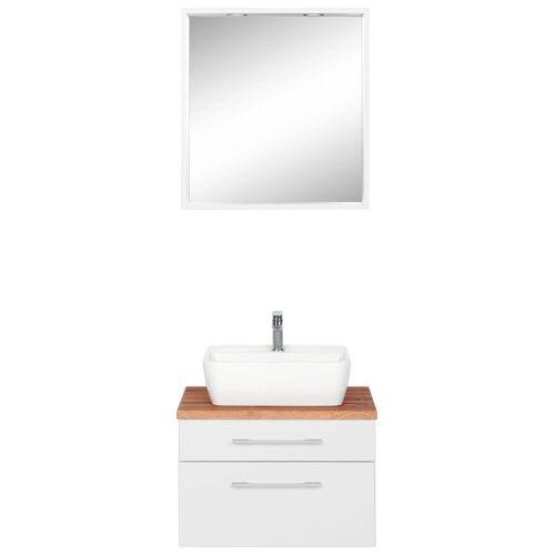 HELD MÖBEL Badmöbel-Set »Davos«, (2-tlg), mit rechteckigem Waschbecken, weiß