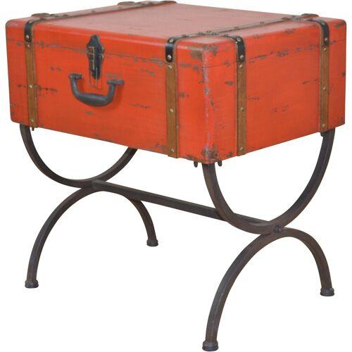 Home affaire Beistelltisch »Koffer«, rot