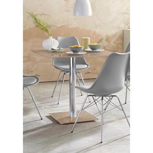 MCA furniture Säulen-Esstisch, Breite 80 cm, taupe