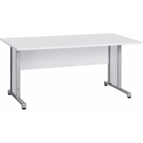 Maja Möbel Schreibtisch »System«, mit Kabeldurchlass in der Arbeitsplatte, Icy-weiß