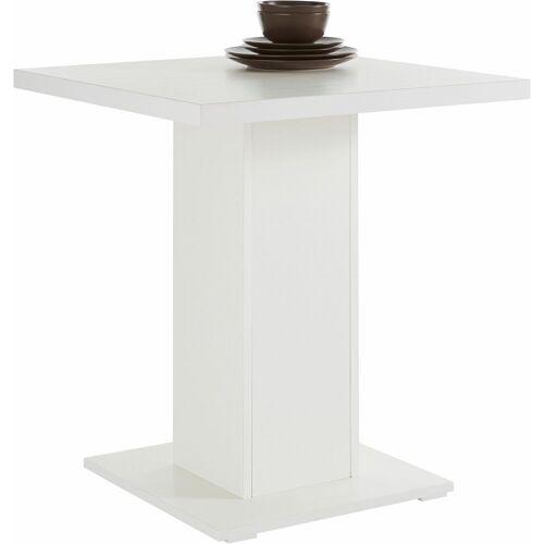 SCHÖSSWENDER Säulen-Esstisch »Köln«, zeitloses Design, Holzwerkstoff mit Farbe Weiß   Holzwerkstoff mit Farbe Weiß   Holzwerkstoff mit Farbe Weiß