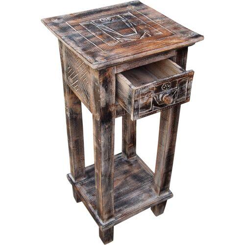 Guru-Shop Couchtisch »Telefontisch, Flurtisch - Ethno weiß«