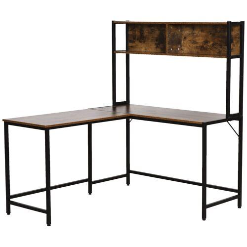 HOMCOM Schreibtisch »Eckschreibtisch im Industriestil«