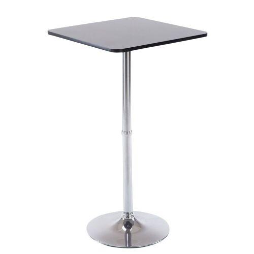 CLP Bartisch »Stehtisch eckig«, quadratischer Stehtisch Holz-Tischplatte, schwarz