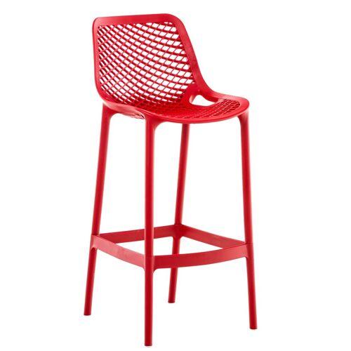 CLP Barhocker »Air«, Kunststoff mit Wabenmuster, rot