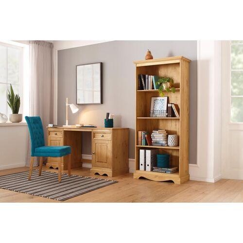 Home affaire Schreibtisch »Melissa«, aus schönem massivem Kiefernholz, Breite 150 cm, beize