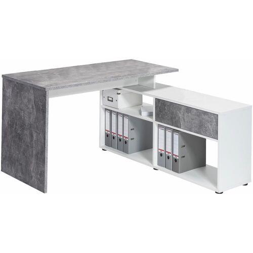 Maja Möbel Eckschreibtisch »4019«, betonoptik-Icy-weiß