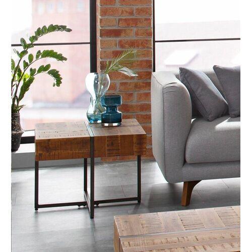 Home affaire Beistelltisch »Marilyn«, Tischplatte 60/60 cm, im Industrial-Look