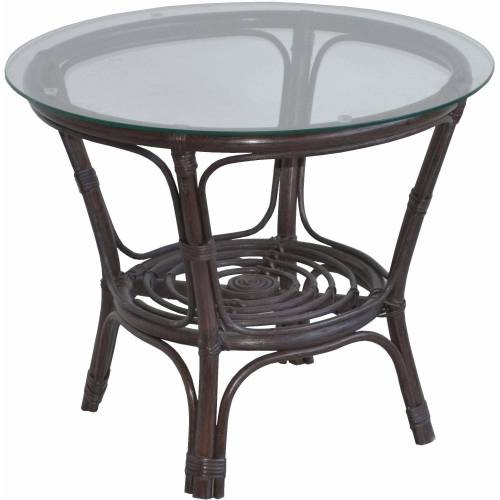 Home affaire Tisch, gemütliche Rattanmöbel ideal für Wohnraum oder Wintergarten, braun