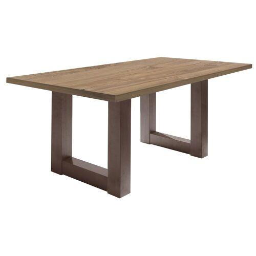 Esstisch »Mister«, Gestell in U-Form, rost/Stirling oak   rost   Stirling oak