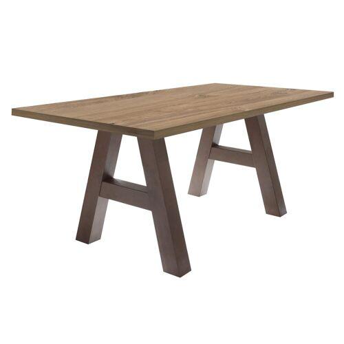 Esstisch »Mister«, Gestell in A-Form, rost/Stirling oak   rost   Stirling oak