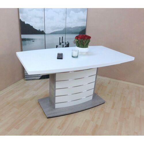 Esstisch »Malibu«, weiß/beton silber