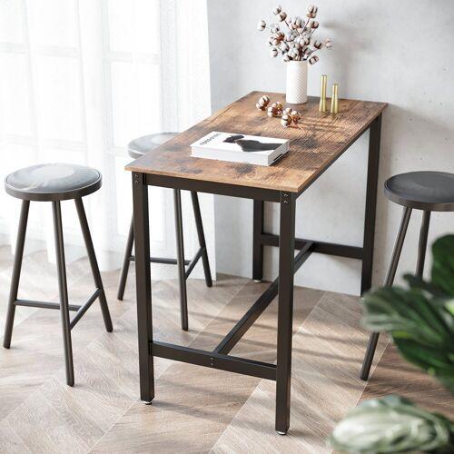 VASAGLE Bartisch »LBT91X«, Holztisch, Esstisch, Küchentisch, Tisch für Cocktails, Küche, vintage