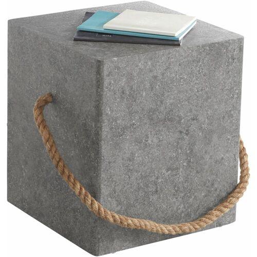 Paroli Beistelltisch, mit Griffband, beton
