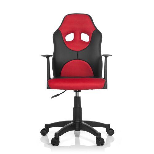 hjh OFFICE Drehstuhl »Kinderdrehstuhl KID GAME AL«, Schwarz / Rot