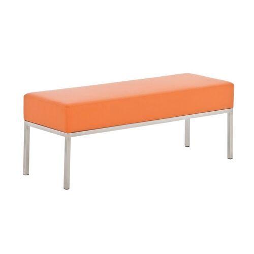 CLP Sitzbank »3er Sitzbank Lamega Kunstleder«, 3er Sitzbank Kunstleder Sitzmodul, orange