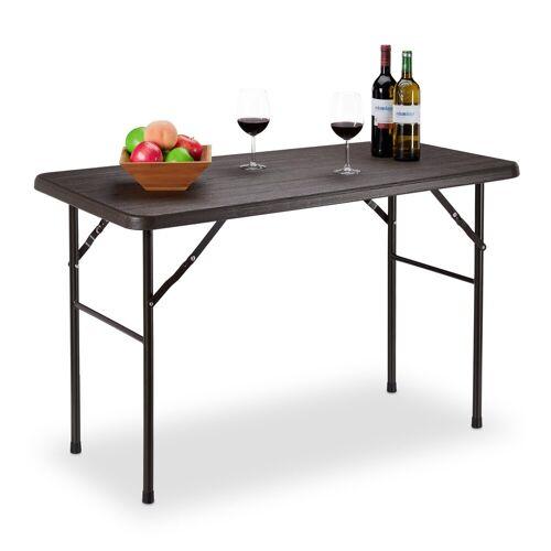relaxdays Gartentisch »Eckiger Gartentisch Holzoptik«