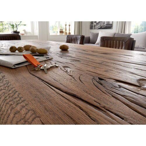 KAWOLA Esstisch Massivholz Eiche Old Bassano versch. Größen »NELA«, braun