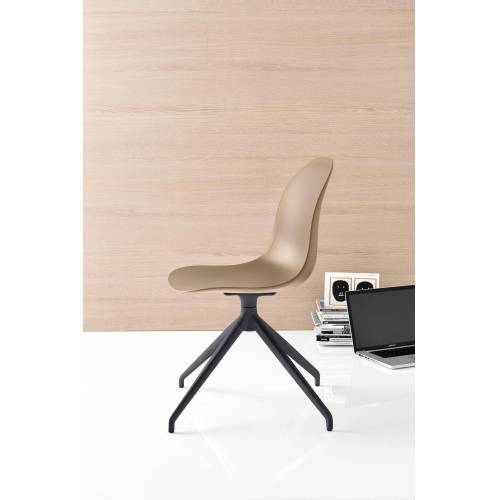 connubia by calligaris 4-Fußstuhl »Academy CB/1694«, haselnussbraun matt P328   haselnussbraun matt P328