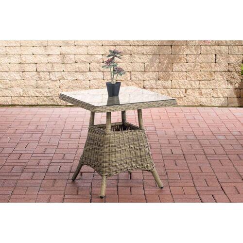 CLP Gartentisch »Vaulen«, quadratischer Gartentisch aus Polyrattan, natura