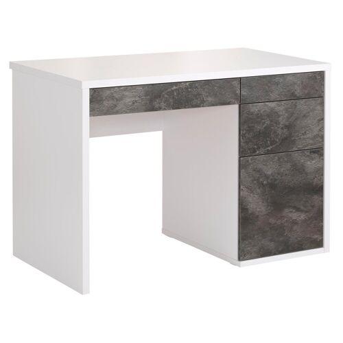 Maja Möbel Schreibtisch »Wismar«, mit Push-to-Open-Funktion, weiß/weiß
