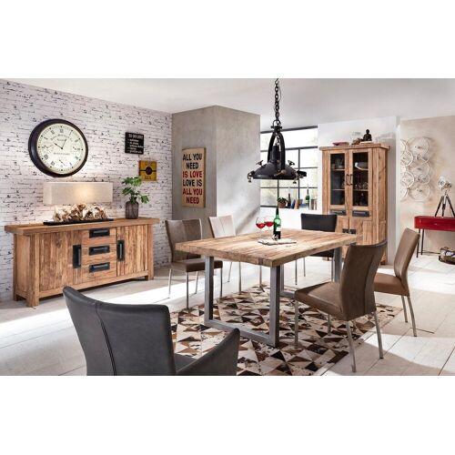 SIT Esstisch »Tops&Tables«, mit rustikaler Tischplatte aus recyceltem Altholz Teak, eisen silber