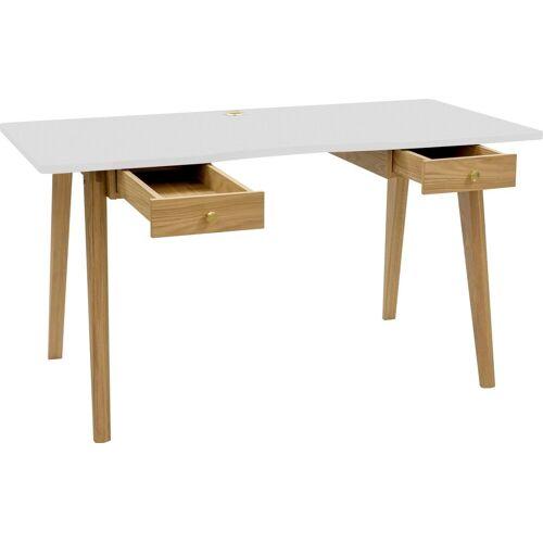 Woodman Schreibtisch »Peer«, weiß   weiß