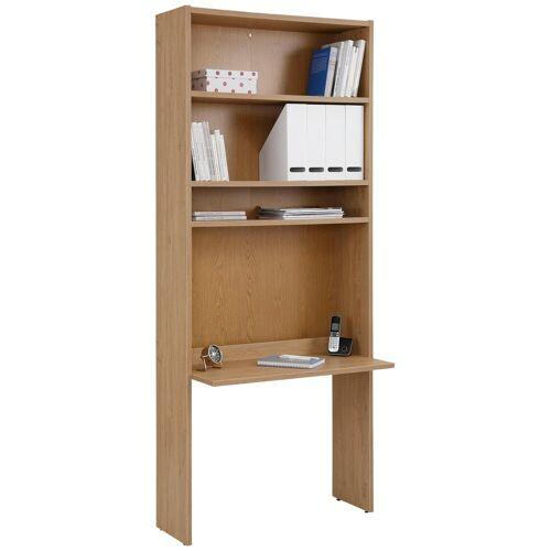 Home affaire Bücherregal »Dana«, mit Schreibtisch, Höhe 217 cm, eiche