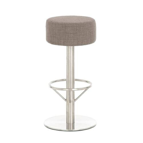 CLP Barhocker »Pisa Stoff«, mit Sitzhöhe 76 cm, grau