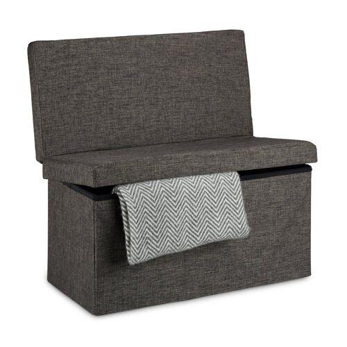 relaxdays Sitzhocker »Faltbarer Sitzhocker mit Lehne L«, Braun