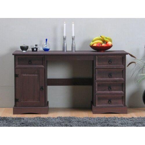 ebuy24 Schreibtisch »New Mexico Schreibtisch Breite 141 cm, Höhe 76 cm«, Braun